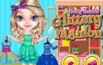Baby Barbie Glittery Fashion