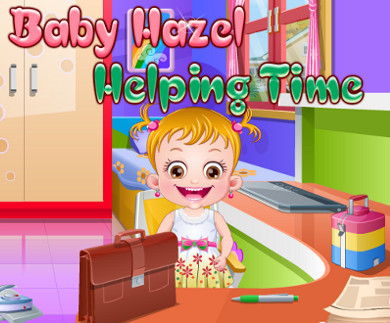 Baby Hazel Helping Time