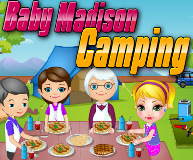 Baby Madison Camping