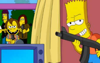 Bart Simpsons save Springfield