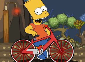 Bart Simpson in Bici