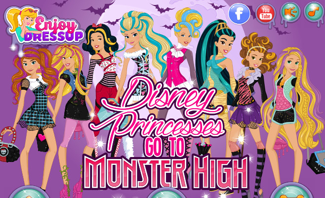 Disney Princesses go to Monster High