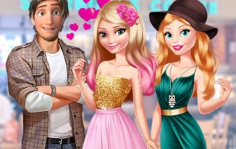 Elsa e Barbie Blind Date