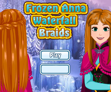 Frozen Anna Waterfall Braids