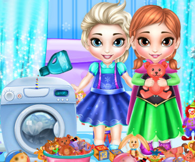 Frozen Sisters Washing Toys