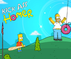 Kick Ass Homer Simpson