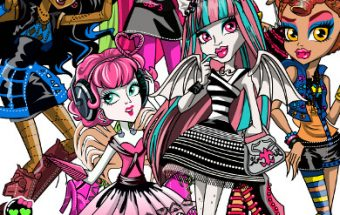 Monster High Ghouls Coloring