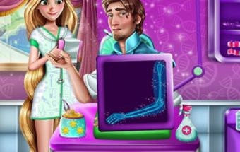 Rapunzel and Flynn Hospital Emergency