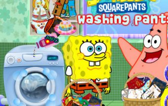 Spongebob Washing Pants