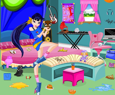 Winx Club Musa Room Cleaning