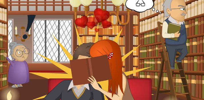 Kiss at the Library