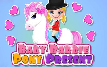 Baby Barbie Pony Present
