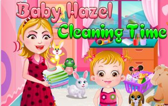 Baby Hazel Cleaning Time