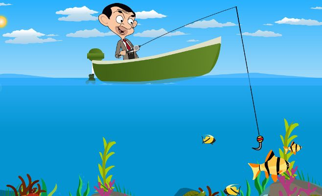 Mr. Bean Fishing
