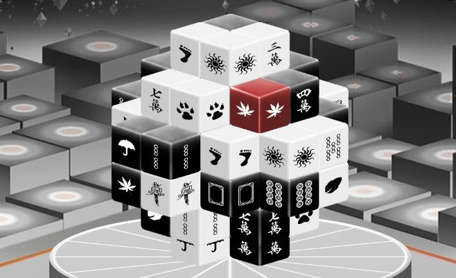 Mahjong Black and White 3D
