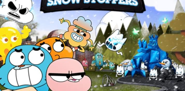 Gumball snow stoppers distruggi i pupazzi di neve con