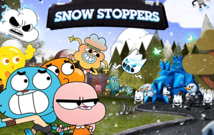 Gumball snow stoppers distruggi i pupazzi di neve con gumball co
