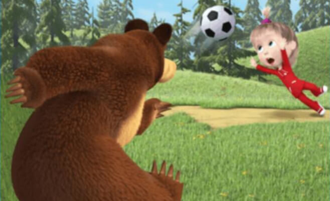 Masha e Orso Football